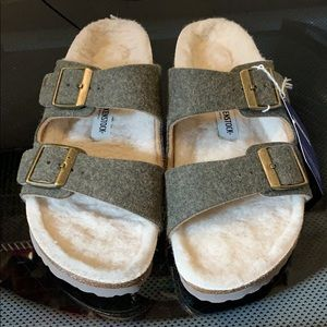 Birkenstock Arizona Wool Fall Sandals